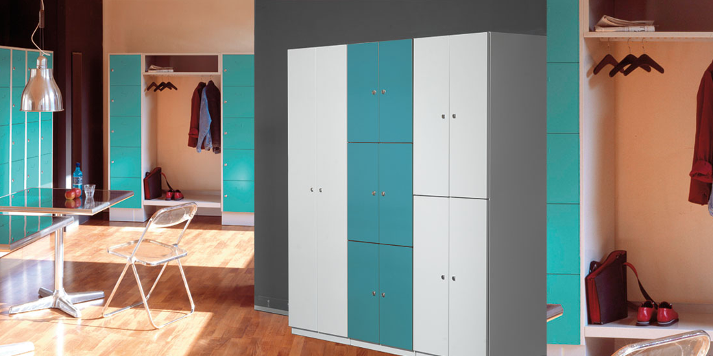 Office cabinets and open coat racks   EUGEN WOLF ...