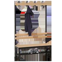 Garderobenbänke Serie 102 von EUGEN WOLF Büro- und Betriebseinrichtungen aus Stahl