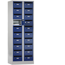 Postverteilerschränke Serie 42 PV von EUGEN WOLF Büro- und Betriebseinrichtungen aus Stahl