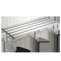 Freistehende Sitzbänke Serie 101 von EUGEN WOLF Büro- und Betriebseinrichtungen aus Stahl