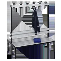 Garderobenbänke 103 von EUGEN WOLF Büro- und Betriebseinrichtungen aus Stahl