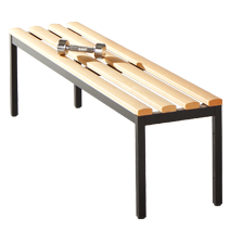 Freistehende Sitzbänke Serie 104 von EUGEN WOLF Büro- und Betriebseinrichtungen aus Stahl