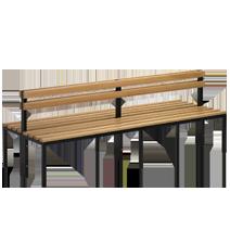 Freistehende Sitzbänke mit Rückenlehne Serie 105 von EUGEN WOLF Büro- und Betriebseinrichtungen aus Stahl