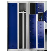Garderobenschränke Serie 30 von EUGEN WOLF Büro- und Betriebseinrichtungen aus Stahl