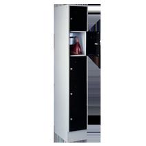 Garderoben-Schließfachschränke Serie 40 von EUGEN WOLF Büro- und Betriebseinrichtungen aus Stahl