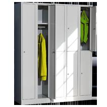 Extrahohe Garderoben- und Wertfachschränke Serie 42 von EUGEN WOLF Büro- und Betriebseinrichtungen aus Stahl