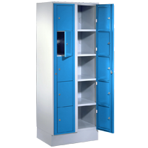 Distribution cabinets with main door and laundry collection cabinets series 71 ZW, 71 WS and VT by EUGEN WOLF