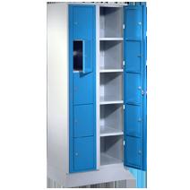 Verteilerschränke mit Zentraltür und Wäschesammelschränke Serie 71 ZW, 71 WS und VT von EUGEN WOLF Büro- und Betriebseinrichtungen aus Stahl