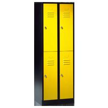 Garderobenschränke unterteilt Serie 74 von EUGEN WOLF Büro- und Betriebseinrichtungen aus Stahl