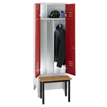 Clothes cabinets according to workplace guidelines series 75 ASR by EUGEN WOLF