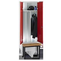 Garderobenschränke nach Arbeitsstättenrichtlinien Serie 75 ASR von EUGEN WOLF Büro- und Betriebseinrichtungen aus Stahl