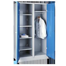 Garderoben-Wäscheschränke Serie 75C und 76C von EUGEN WOLF Büro- und Betriebseinrichtungen aus Stahl