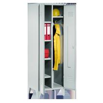 esen- und Putzmittelschränke / Garderoben-Wäscheschränke Serie 76 und 79 von EUGEN WOLF Büro- und Betriebseinrichtungen aus Stahl