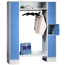 Offene Garderoben Serie 78 von EUGEN WOLF Büro- und Betriebseinrichtungen aus Stahl