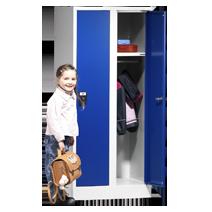 Schul- und Kindergartenschränke Serie 81 von EUGEN WOLF Büro- und Betriebseinrichtungen aus Stahl