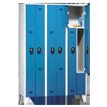 Z-Garderobenschränke 90 Z von EUGEN WOLF Büro- und Betriebseinrichtungen aus Stahl