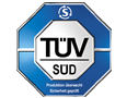 Quality certified by the German Association for Technical Inspection (TÜV)